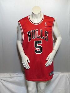 Chicago Bulls Jersey (Retro) - Jalen Rose # 5 by Reebok - Men's XL