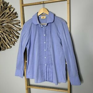 RM Williams Size 14 L Light Blue Women's Blouse Western Shirt Top Cowgirl R.M.