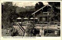 Bad Tölz Bayern Oberbayern AK ~1940/50 Waldherr Alm Gasthof Lokal Benediktenwand