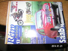 Retro Hebdo n°64 Saab 96 V4 Restauration Jeep Motobecane 175Z23C Citroen C4