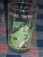 The Archies Glass Tumbler Taking Gang Ride Betty on Bottom  4 1/4 Inch High