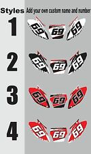 Number plates side panels graphic decals for 2002-2012 Honda CRF70 CRF 70