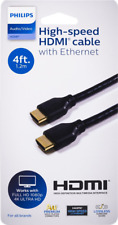 Philips 4K High-Speed HDMI Ethernet Cable 4ft Supports 4K Ultra HD, Full 1080P