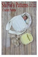 "CROCHET PATTERN for DOLL CARRY COT TO FIT 4""-22"" #77 NOT CLOTHES"