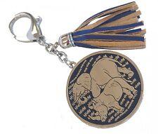 Feng Shui Blue Rhino Elephant Anti Burglary Keychain
