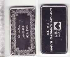 Lingot d argent Collection Des banques du monde ( 40 grammes - Japon )