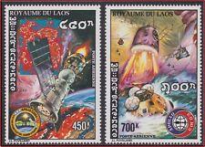 1975 LAOS PA N°122/123** Apollo Sojuz Coopération Spatiale USA URSS,  Space MNH