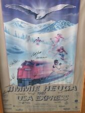 1987 Jimmie Heuga USA Express Signed Skiing Skier Poster (13) with Billy Kidd