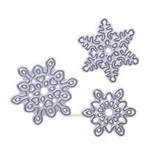 3PCS Christmas Snowflake Metal Die Cut Cutting Dies DIY Scrapbooking Album Card