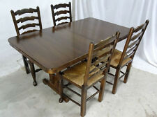 Farmhouse Rectangular Dining Tables Sets with 5 Pieces