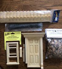 Premium Miniature Dollhouse Lot~Door, Window, Shingles