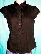 SO Wear It Declare It Black Button Down Blouse Size M