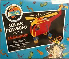 Solar Powered model Helicopter - wooden model, solar panel, motor