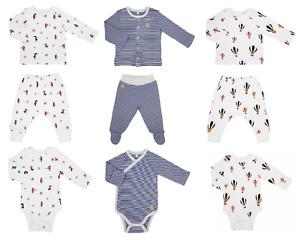 Baby Teddley London Organic Clothing White Blue Long Sleeved Newborn 24 Months