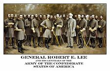 General Robert E Lee and His Generals of the Confederate States Civil War Print