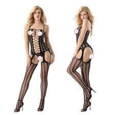 Hot&Sexy Ladies Mesh Fishnet Body Stocking Bodysuit Nightwear Lingerie Jumpsuit