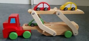 Tesco Wooden Transporter With 3 Cars