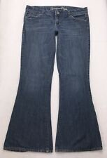 O117 American Eagle REAL FLARE Trouser Bell Bottom Boho Jeans Tag sz 10 Reg
