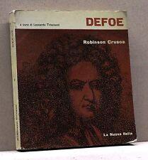 ROBINSON CRUSOE - Defoe [libro, La nuova italia, Primo scaffale 38, I ediz.1971]