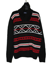 Chaps Knit Sweater XL Men Pull Over New Black