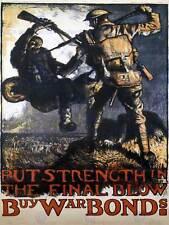 PROPAGANDA FUND BOND USA AMERICA SOLDIER GERMAN WAR VINTAGE POSTER 1951PYLV