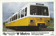 Railway Postcard - Tyne and Wear Transport - Metro Train Introduced 1980 - 2124