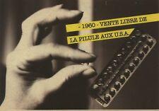 CARTE POSTALE PHOTO / 1960 VENTE LIBRE DE LA PILULE AUX U.S.A.