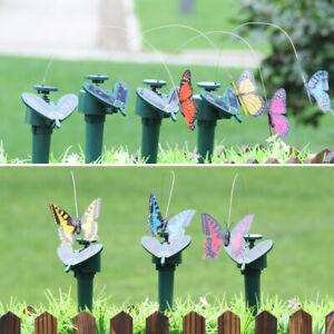 Solar Powered Flying Fluttering Hummingbird Bird Butterfly Garden Decor Beam NEW