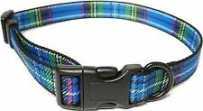 Ancol Adjustable Collar Tartan Blue Med 691340