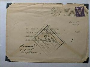 KIA APO 472 MOURMELON Le GRAND, FRANCE 1944 WWII Army Cover 401 GLIDER Infantry