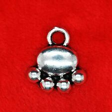 10 x Tibetan Silver Pet Dog Cat Paw Charm Pendant Finding Bead Jewellery Making