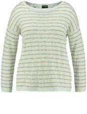 Samoon Ringel-Pullover by Gerry Weber Neu Gedecktes Weiß+Beige Damen Gr.