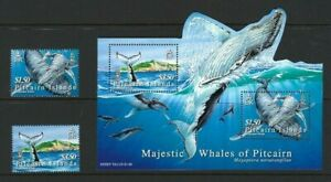 Pitcairn 2006, Humpback Whales sg721/2 & MS723 MNH