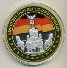 Riesen Farb Medaille Einigkeit Recht Freiheit Gigant ca. 70 mm Zertifikat M_537