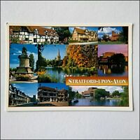 Stratford-Upon-Avon Warwickshire 9 Views Postcard (P403)