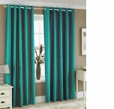 READY MADE Thermal Blackout EYELET RING TOP Curtains + 2 FREE Matching Tie Backs