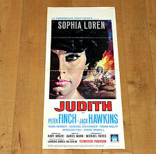 JUDITH locandina poster Sophia Loren Peter Finch  Frank Wolff Jack Hawkins F32