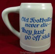 Beer Stein 'Old Footballers Never Die They Just Go Off Side' Stoneware 500 ml