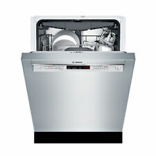 """Bosch 24"""" Recessed Handle Dishwasher Stainless Steel Shem63W55N New Scratch/Dent"""