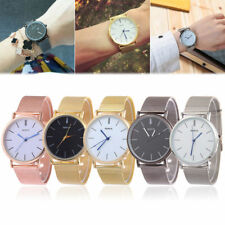 Ladies Fashion Geneve Quartz Gold or Silver or Black Mesh Band Wrist Watches.
