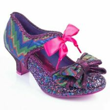 Poetic Licence By Irregular Choice 'Apple Spice' (E) Mid Heel Glitter Shoes
