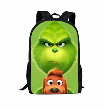 The Grinch Backpack How the Grinch Stole Christmas School Bag Rucksack 17""