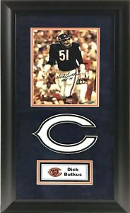 Dick Butkus Signed and Deluxe Framed 8x10 Photo