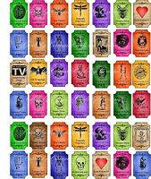 Halloween Magic steampunk color mini bottle labels glossy stickers set of 42