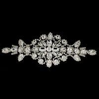Clear Crystal Rhinestone Diamante Patch Sew On Applique Motif Wedding Accessory