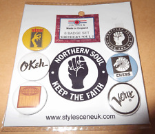 Northern Soul (2) 25mm 6 Button Badge Set, mod, scooterists
