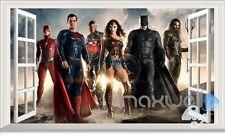 Justice League Superman Batman 3D Window Wall decor Stickers Kids Décor Boy