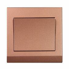 Simplicity Bronze Screwless Rocker Light Switch 1 Gang 2 Way 07004