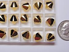 288 PIECES SWAROVSKI BEADS #5328 8mm BICONE - CRYSTAL AURUM 2X - FACTORY PACKAGE