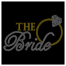 The Bride Ring Wedding Wifey Bridesmaid Rhinestone Hot Fix Iron On Transfer